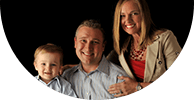 Grapevine Dental Services family of three smiling